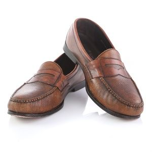 Cole Haan Pebbled Leather Penny Loafers Shoes